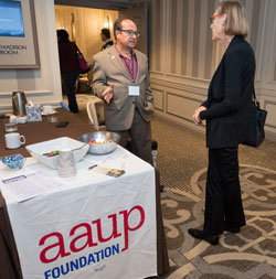 AAUP Foundation director of development Edward D'Antoni at the 2016 governance conference.